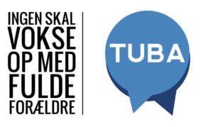 TUBA står for Terapi og rådgivning for Unge, der er Børn af Alkohol- og stofmisbrugere. TUBA hjælper unge mellem 14 og 35 år, der er vokset op i en familie med alkohol- eller stofmisbrug. TUBA afholder drop-in møder og caféaftener, ligesom de har chatrådgivning mandag -torsdag kl. 18-21. Du kan læse mere om TUBA's begivenheder på deres hjemmeside. TUBA har en lokalafdeling i Fredericia, som du kan kontakte via deres hjemmeside eller på fredericia@tuba.dk.